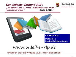 Christoph Mayr Pfälzischen Landesbibliothek Speyer