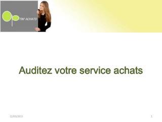 Auditez votre  service  achats
