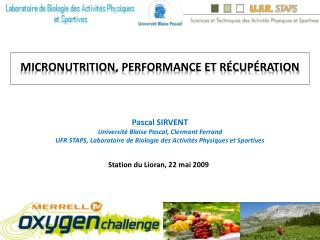 Micronutrition, performance et r cup ration