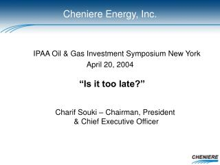 IPAA Oil & Gas Investment Symposium New York