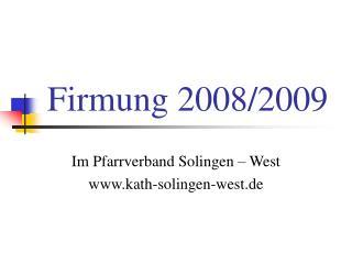 Firmung 2008/2009
