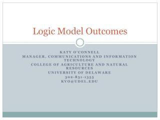 Logic Model Outcomes
