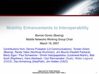 Mobility Enhancements to Interoperability