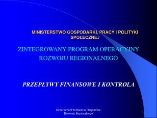 MINISTERSTWO GOSPODARKI, PRACY I POLITYKI SPOŁECZNEJ