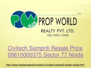 Civitech Sampriti Resale Price 09810000375 Sector 77 Noida