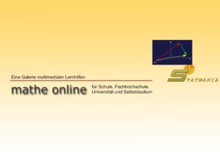 im Rahmen des Projektes �Neue Medien in der Mathematik-Ausbildung�