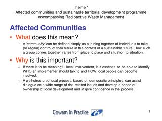 Affected Communities What  does this mean?