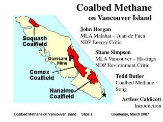 Coalbed Methane  on Vancouver Island