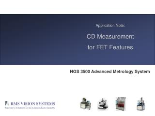 Application Note: CD Measurement for FET Features