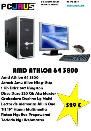 AMD ATHLON 64 3800 Amd Athlon 64 3800 Asrock Am2 Alive Nf6g-Vsta 1 Gb Ddr2 667 Kingston