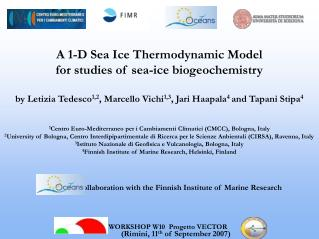 A 1-D Sea Ice Thermodynamic Model  for studies of sea-ice biogeochemistry