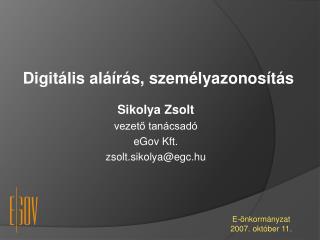 Digitális aláírás, személyazonosítás