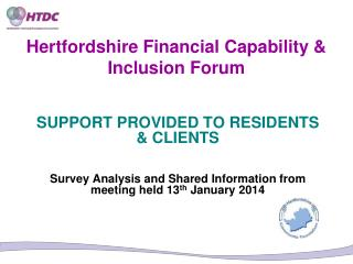Hertfordshire Financial Capability & Inclusion Forum