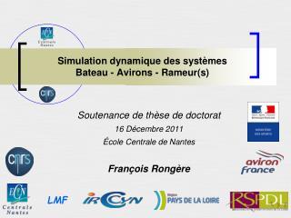 Simulation dynamique des systèmes  Bateau - Avirons - Rameur(s)