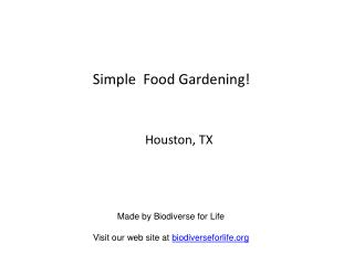 Simple  Food Gardening!