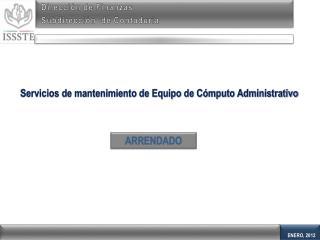 Dirección de Finanzas Subdirección  de Contaduría