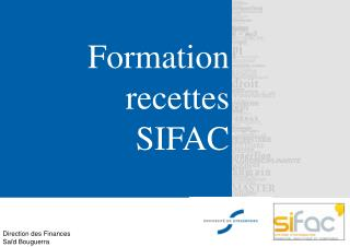 Formation recettes SIFAC