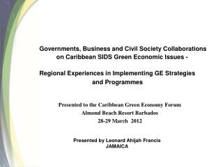 Governments, Business and Civil Society Collaborations