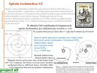 Spirala Archimedesa 1/2