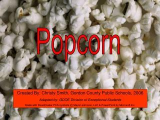 Popcorn Symbol Writing Activity