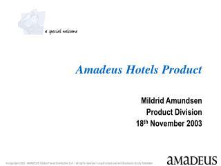 Amadeus Hotels Product