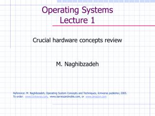 Operating Systems Lecture 1