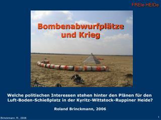 Bombenabwurfplätze  und Krieg