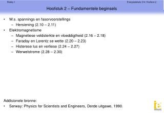 Hoofstuk 2 – Fundamentele beginsels