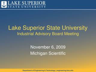 Lake Superior State University Industrial Advisory Board Meeting