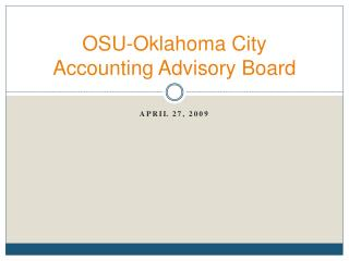 OSU-Oklahoma City Accounting Advisory Board