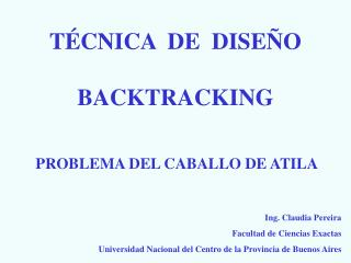 TÉCNICA  DE  DISEÑO BACKTRACKING