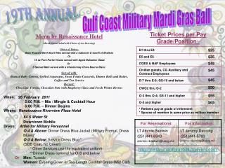 Gulf Coast Military Mardi Gras Ball