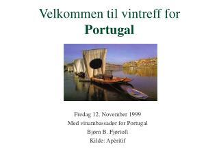Velkommen til vintreff for Portugal