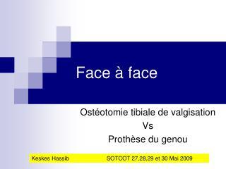 Face � face