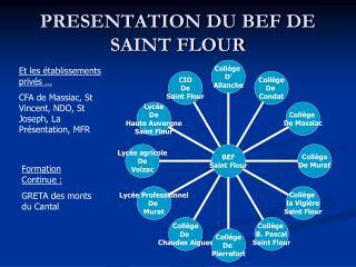 PRESENTATION DU BEF DE SAINT FLOUR