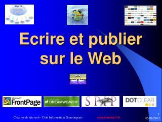 Ecrire et publier sur le Web
