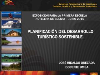 PLANIFICACIÓN DEL DESARROLLO TURÍSTICO SOSTENIBLE.