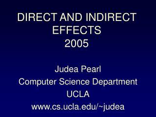 Judea Pearl Computer Science Department UCLA cs.ucla/~judea