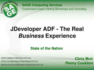 JDeveloper ADF - The Real  Business Experience