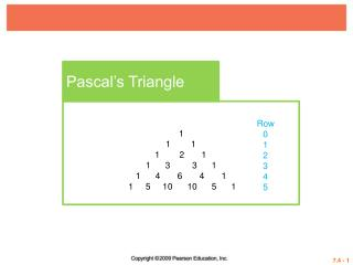Pascal's Triangle