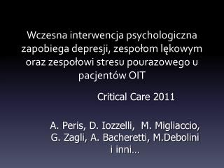 Critical Care 2011