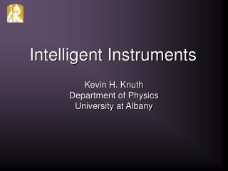Intelligent Instruments