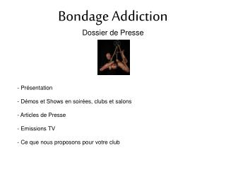 Bondage Addiction Dossier de Presse