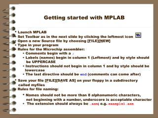 Getting started with MPLAB