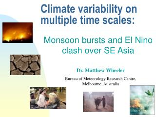 Climate variability on multiple time scales: