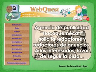 """Agencia de publicidad  """"Tlacoquemécatl""""  solicita redactores y redactoras de anuncios."""