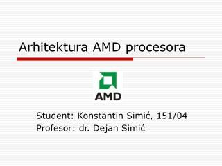 Arhitektura AMD procesora