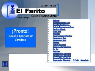Editorial Fundación Puerto Azul  Zona Náutica Informa… Nota de Bosques y Jardines
