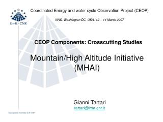 Mountain/High Altitude Initiative (MHAI)