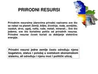 PRIRODNI RESURSI